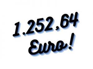 1.252,64€ - Neue P-Konto Juli 2021